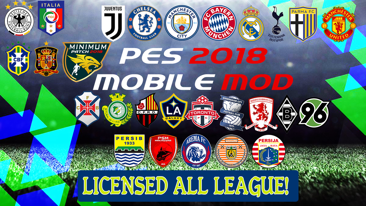 PES 2018 Mobile Android Minimum Patch 2018 V3.6