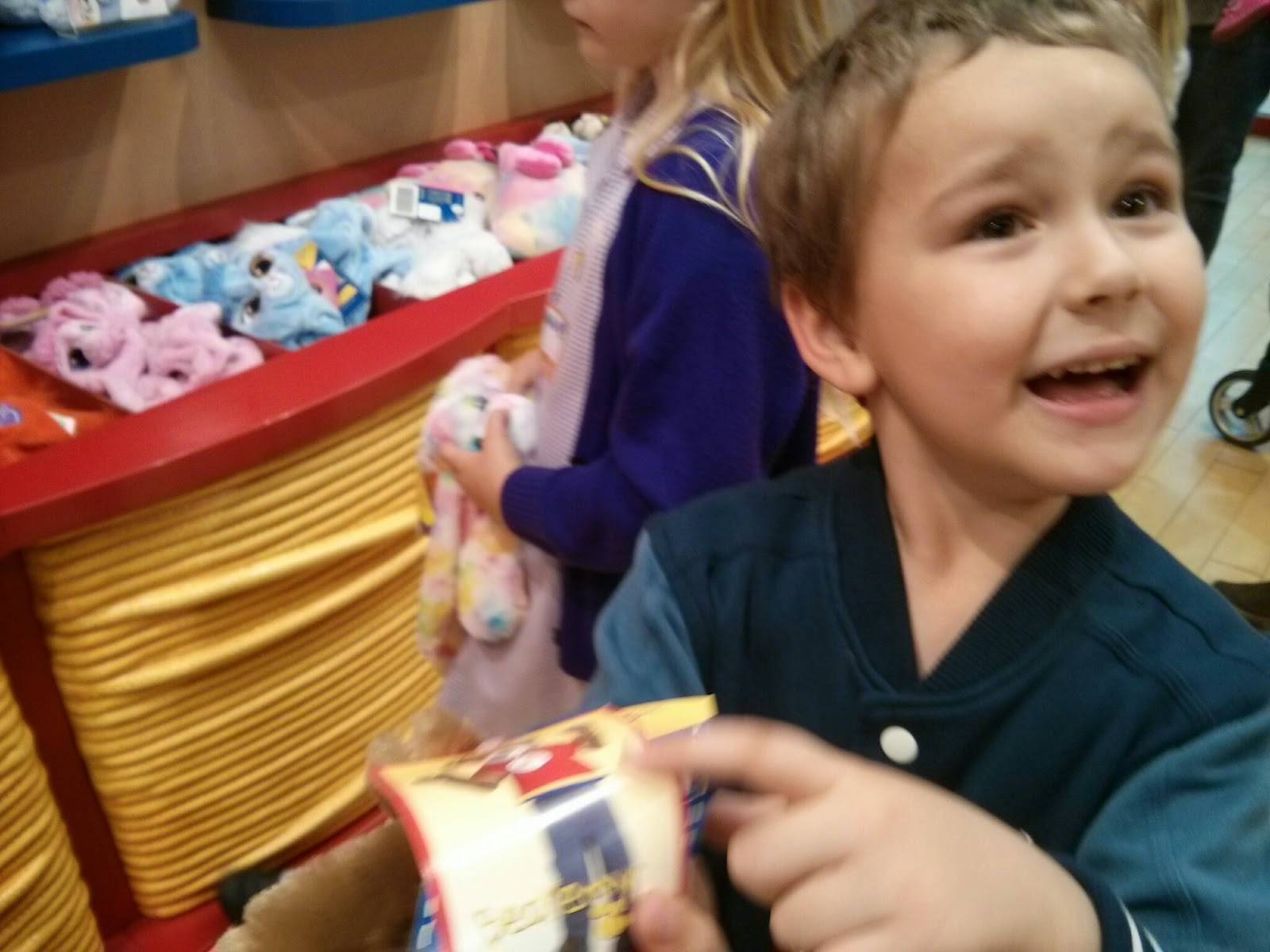 Big Boy at the Build a Bear Workshop