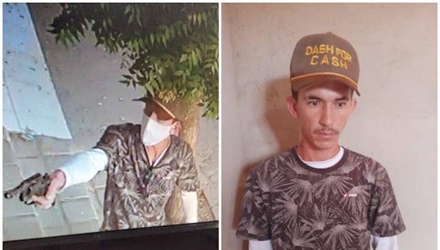Suspeito de assalto é preso ainda com a vestimenta utilizada no crime, no alto sertão da PB