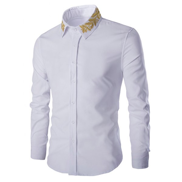 Shirt Collar Long Sleeves Shirt