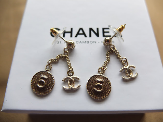 Sold Chanel Dangling No 5 And Interlocking C Earrings