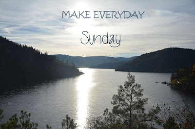 motivational quote - make everyday sunday picture of a lake
