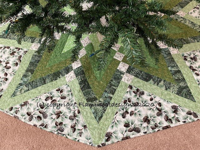 Tree Skirt Under The Christmas Tree