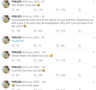 Peruzzi replies as singer Daffy Blanco