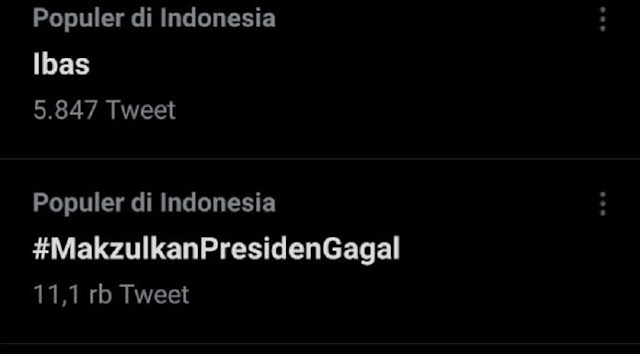 Ramai Tagar #MakzulkanPresidenGagal, Netizen: Covid Tak Terkendali, Pejabatnya Nonton Sinetron