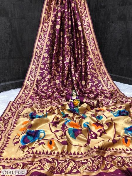 Gorgeous Jacquard Kanjeevaram Silk Saree   Saree Online  
