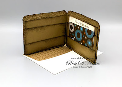 Visit my blog to download the FREE PDF tutorial for this super cute Masculine Gift Card/ Money Wallet using the A Good Man Stamp Set