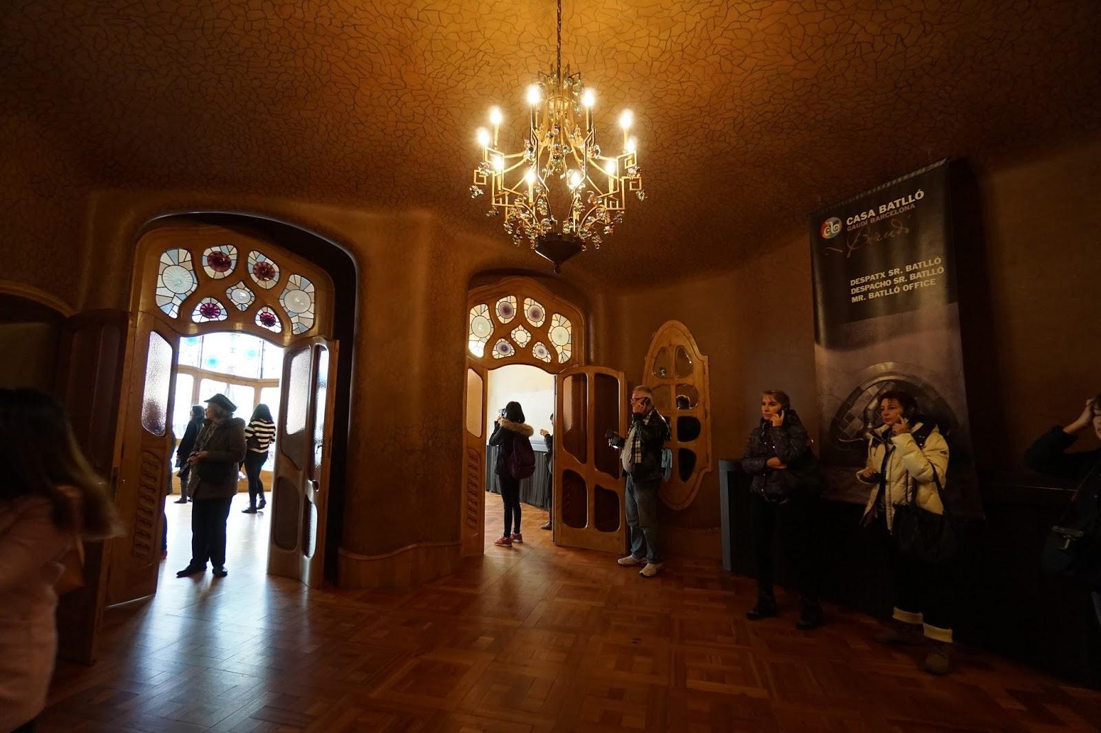 カサ・バトリョ(Casa Batlló) 2階 暖炉室