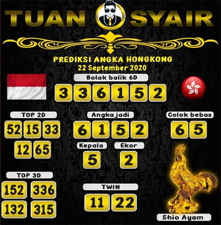 Prediksi Tuan Syair HK Selasa 22 September 2020