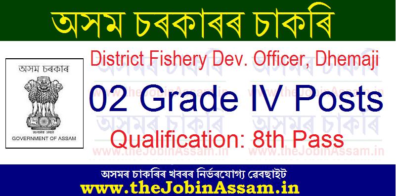 District Fishery Dev. Officer, Dhemaji Recruitment