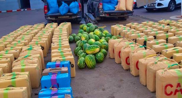 أكادير .. حجز أزيد من 4 أطنان من مخدر الشيرا على متن سيارتين لنقل البضائع