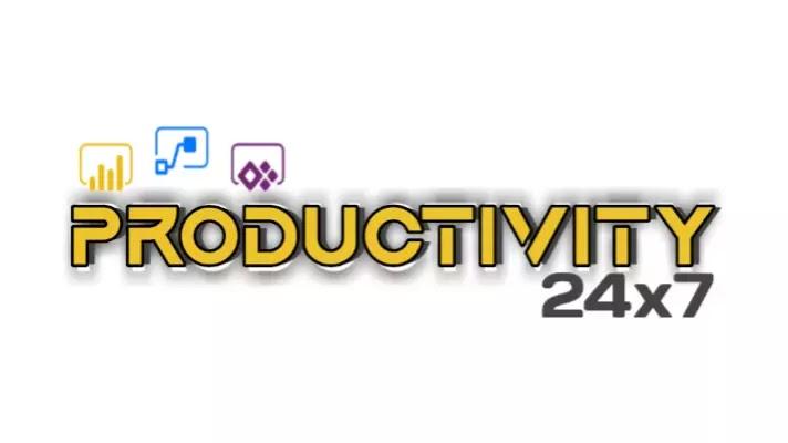 24x7 productivity logo design 2