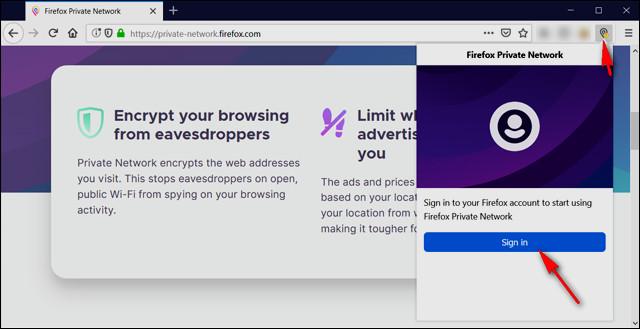 طريقة إستخدام خدمة في بي ان VPN الجديدة في متصفح فايرفوكس