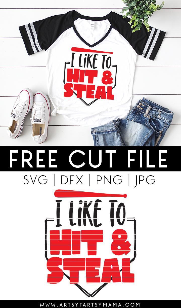 Free Hit & Steal Baseball Cut File