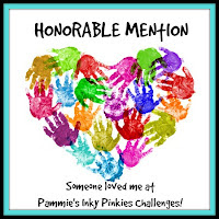 I won an Honorable Mention at Pammie's Inky Pinkies