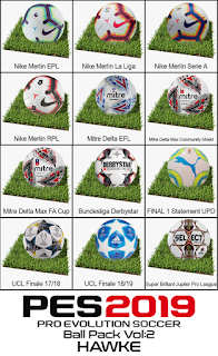 BallPack Vol: 2 by Hawke For Pro Evolution Soccer 2019