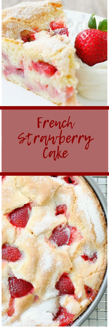 FRENCH STRAWBERRY CAKE  #cake