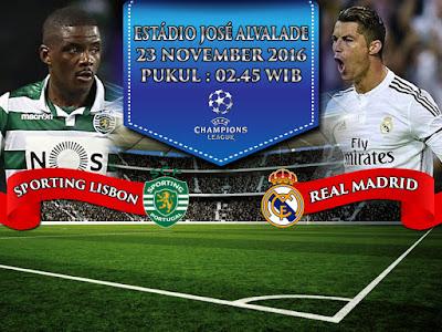 Agen Bola Online Terbesar - Prediksi Bola Liga Champions Sporting Lisbon vs Real Madrid 23 November 2016