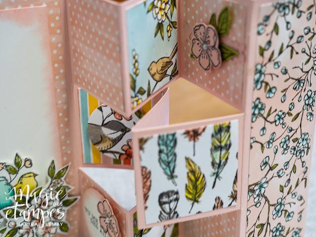Carte Stampin' Up! à pliage original Double shutter avec la collection Ballade des oiseaux