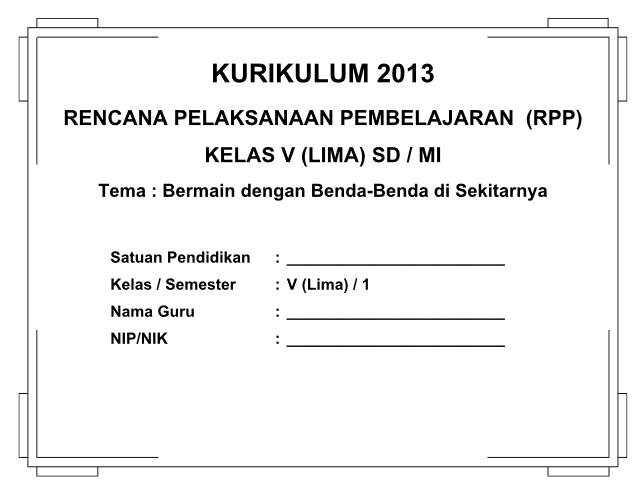Rpp Sd Mi Kelas 5 Kurikulum 2013 Revisi