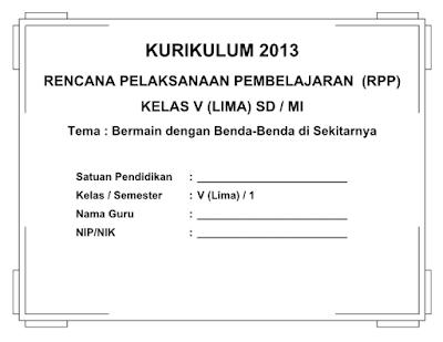 RPP SD/ MI Kelas 5 Kurikulum 2013 Revisi