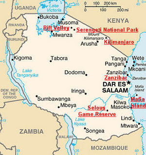 Map Of Africa Bodies Of Water.Great Lakes Of East Africa Travel2africa Tanzania Kenya Safaris