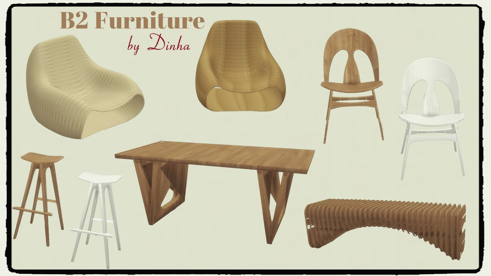 Sims 4 b2 furniture living dinning room dinha for 3 star living room chair sims