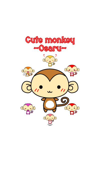 Cute monkey themes -Osaru-