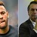 'Está num momento difícil, mas eu acredito nele' diz Bolsonaro sobre Neymar