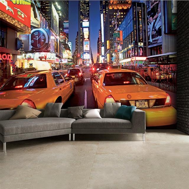 cool tapet new york taxi fototapet manhattan