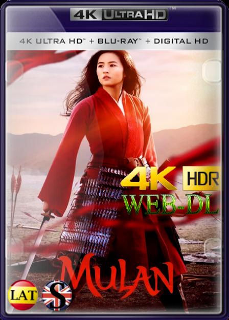 Mulan (2020) 4K UHD HDR WEB-RIP LATINO/INGLES