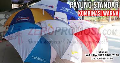 Payung standar model kombinasi warna, grosir payung standar, Payung Standar Kombinasi warna daun, souvenir payung standar di tangerang