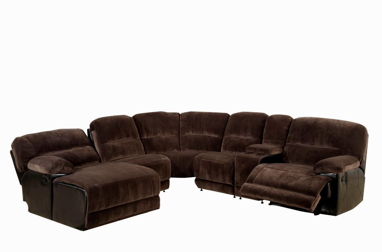 Sectional Reclining Sofa Sale Corona 6 Pc Microfiber