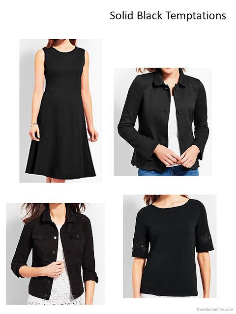 4 black garments from Talbots