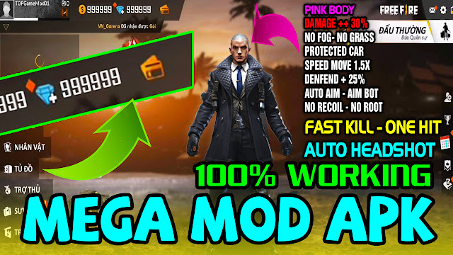 Latest Mega Mod Free Fire OB16 1 38 3 Download Apk & Obb 2019