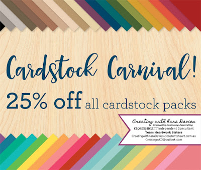 Save 25% on cardstock packs - CreatingwithKaraDavies.closetomyheart.com.au