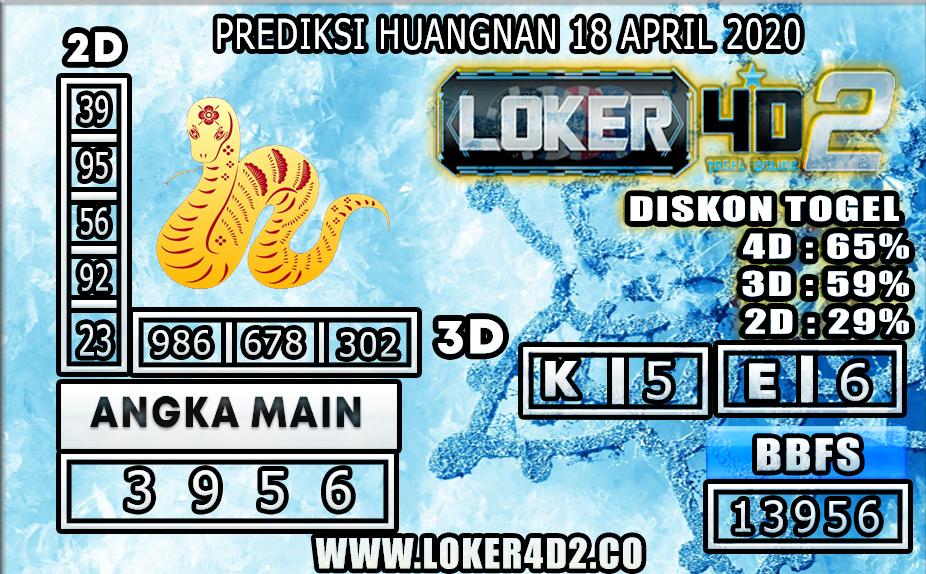 PREDIKSI TOGEL HUANGNAN LOKER4D2 18 APRIL 2020