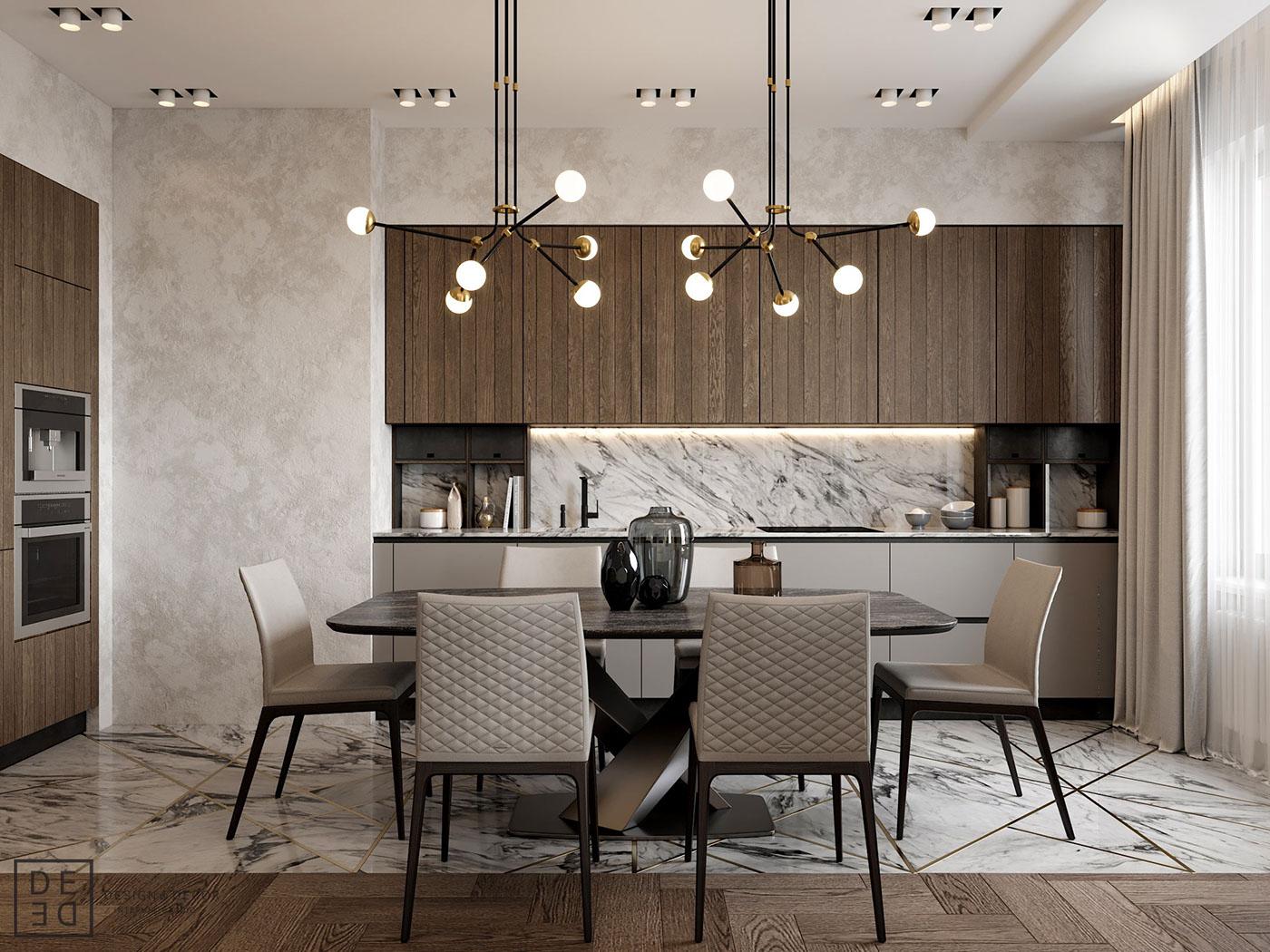 Diseño muebles de cocina: Diseño de cocina comedor laminado en ...