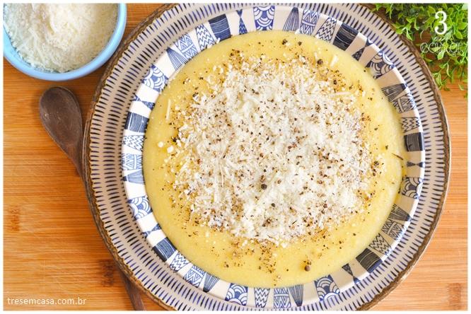 angu com queijo receita