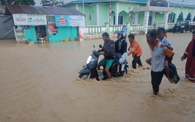 Banjir Rendam Dusun Mamolo Nunukan