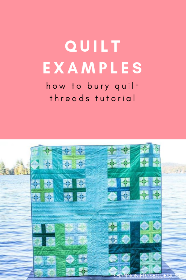 Quilt examples | How to bury quilt threads + 5 top tips | Quilting Tutorial | Shannon Fraser Designs
