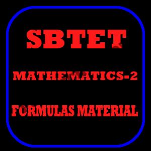 SBTET AP ENGINEERING MATHEMATICS-2 FORMULAS PDF