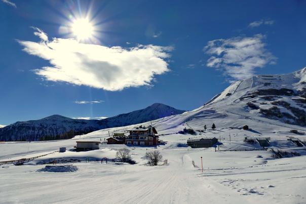 Cervosa Alm, Serfaus, Schnee, Sonnenschein, Skiferien, Winterwonderland