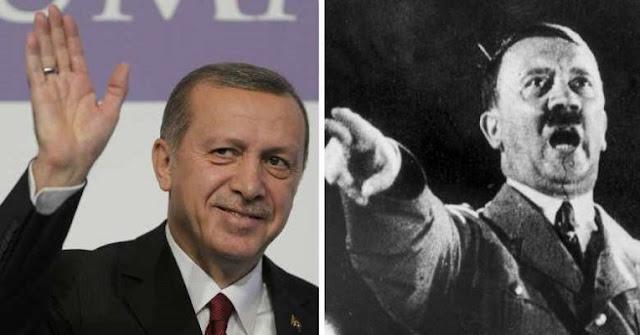 Ο Ερντογάν ο Μεγαλομανής, στα βήματα του Χίτλερ
