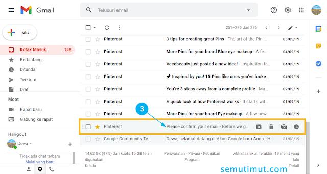 cara membuka kode verifikasi email