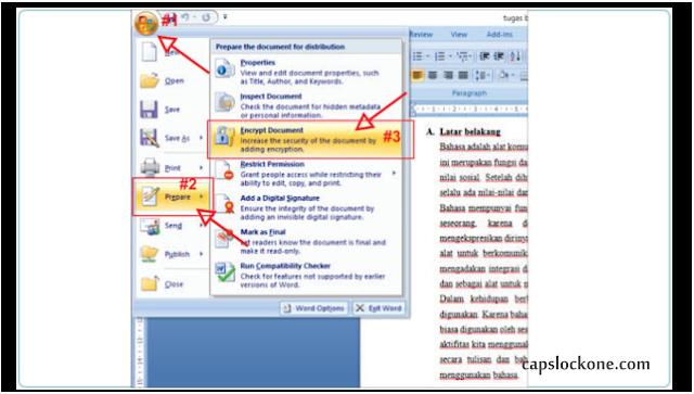 Cara Mengunci File MS Word Agar Tidak Bisa Di Buka