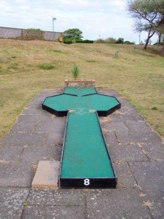 Hole 8 of the South Parade Crazy Golf course in Skegness, Lincolnshire