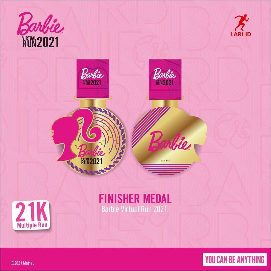 Medali 🏅 Barbie Virtual Run • 2021