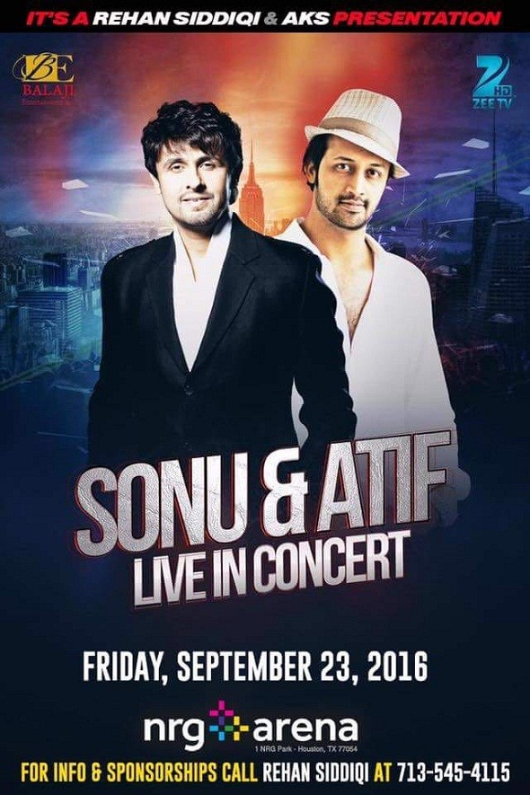 Sonu Nigam and Atif Aslam Concert Houston