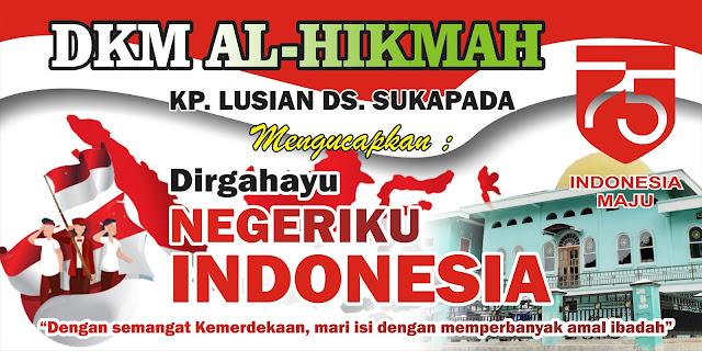 Download Contoh Spanduk HUT RI 75.cdr - KARYAKU